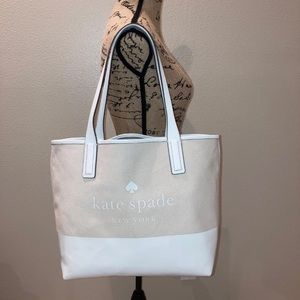 Kate Spade new york compartment tote in Natural.